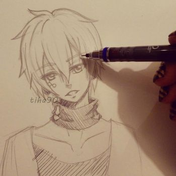 Konoha Sketch by Tiha90