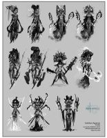 Sketches for evil Chick by Robotpencil