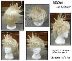 Completed Roxas Wig by BubblegumsProblem