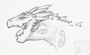 misc. dragon head by llimus