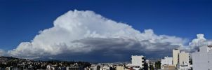 Panoramic View of Cloudy Athens by etsap