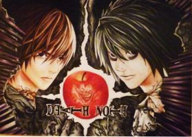 Light and L from Death Note by Polaara
