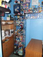 Sonic Merchandise Cabinet full view. by DarkGamer2011