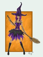 purple witch by DiamondFantasies