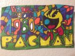 Pacman Art Design Colorful Drawing by NWeezyBlueStars23