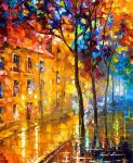House By The Heart by Leonid Afremov by Leonidafremov