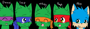 Me And Turtles As Cats by KelseytheHedgecat