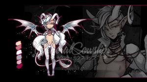[CLOSED] Adoptable Auction - Albino Incubus by Cowslip