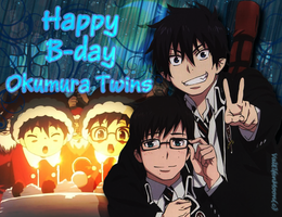 Happy B-day Okumura Twins by ValElfenMoon