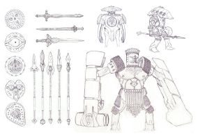 Mesopotamian Warrior - Sketch by PHATandy