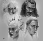Hobbit study by cartolyn