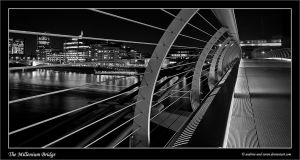Millenium Bridge in Mono by Andrew-and-Seven