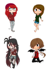 CA: Quick Chibi Commission batch part 2 by Little-Miss-Boxie