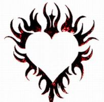 Flaming Heart Tattoo by Spiked-SilverPsycho6