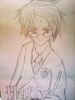 Harry Potter Anime ver. Sketch by Ritunes