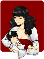 Vivian and Baby by CrimsonPearls