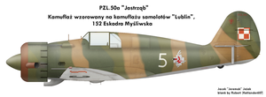 PZL.50 Jastrzab: 3-color by Jeremak-J