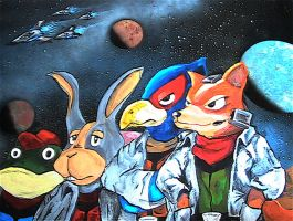 OG Star Fox Team by DaveSchultz