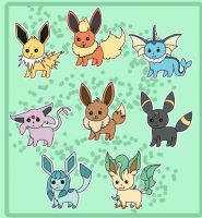 Pokemon: Eeveelutions by ebilartista