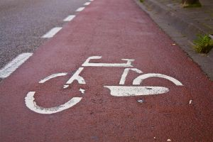 Bicycle path sign by floriske