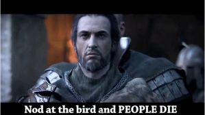 Nod at the bird and PEOPLE DIE by RoflAndrea