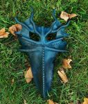 Ice dragon mask by JoannaCorrinCoutures