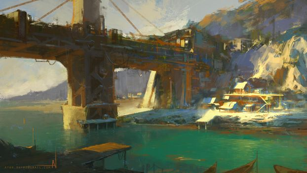 Old Fishing Town by crazypalette