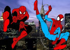 Spider-Men on Patrol by stick-man-11