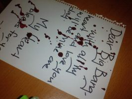 Big Bang bloody fan letter by G-Riluv