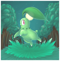 chikorita by Peegeray