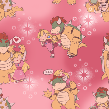 Chibi Powser Repeating Background by KichiMiangra
