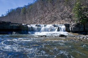 Lower Taughannock Falls State Park Falls by xDx