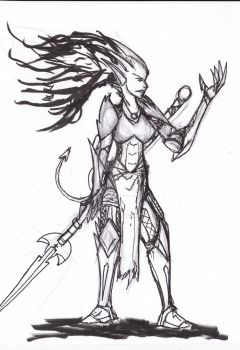 Demon Warrior Lady... (totes not Zoph) by Zaksta94