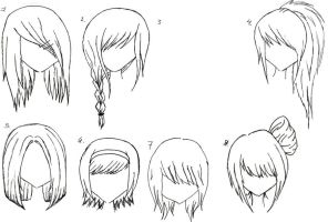 Female Anime Hair 2 by alicewolfnas