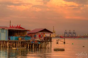 Sunset of Tan Jetty, Penang 4 by fighteden