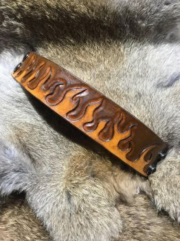 Hand carved leather bracelet  by Jleather
