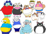 Fat cartoon girls by Maxtaro