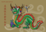 Christmas Dragon by Kanis-Major