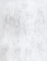 Phineas and Ferb Sketchdump 2 by Heiwagotssunglasses