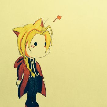 Edward Elric Chibified by FeatherFlighte