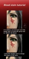 Bloody stain tutorial by PsychoPuffle