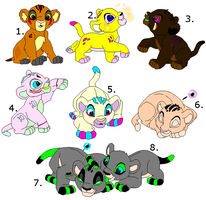 Lion Cub adopts-3pnts each by TwilightLuv10
