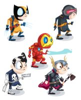 marvel icons by LittleGrimm