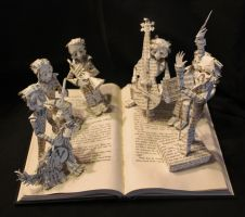 Chroma The Great Book Sculpture by wetcanvas