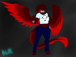 REQUEST:Shardians-Anthro Starling by BlackDragon-Studios