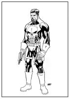 The Punisher ink by SpideyCreed