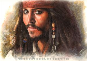 Captain Jack Sparrow by AuroraWienhold