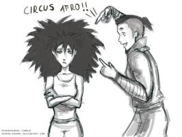Toph and Sokka - Afro Circus by ChristyTortland
