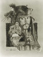 Johnny Depp Characters composition by carloesse