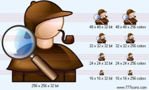 Detective Icon by science-icons